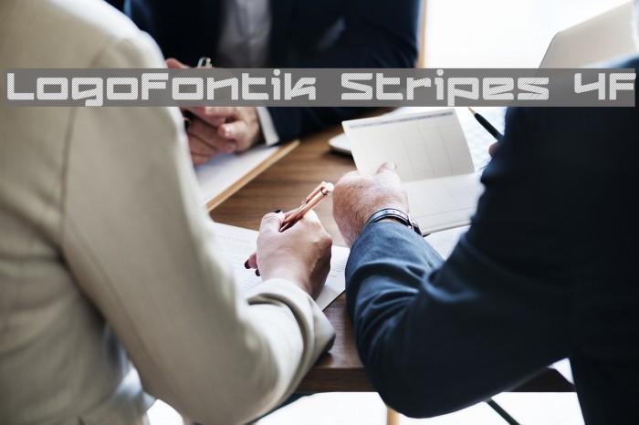 Logofontik Stripes 4F Fonte examples