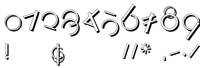 LogomatiqueShadow Font OTHER CHARS