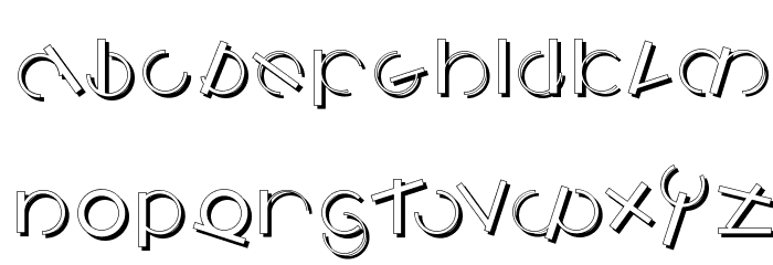 LogomatiqueShadow Font UPPERCASE