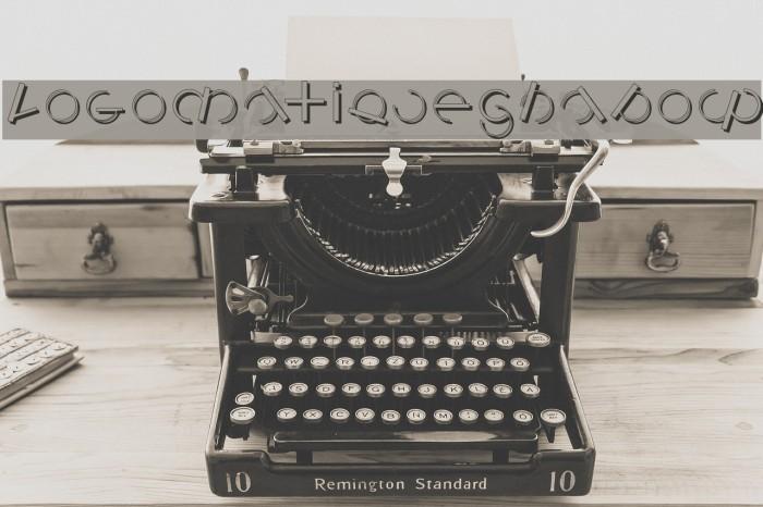 LogomatiqueShadow Font examples