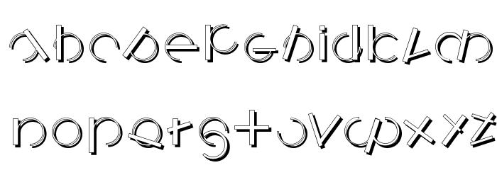 LogomatiqueShadow Font LOWERCASE