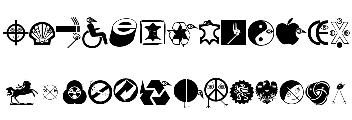 LogosLogo Шрифта строчной