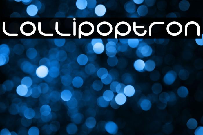 Lollipoptron Schriftart examples