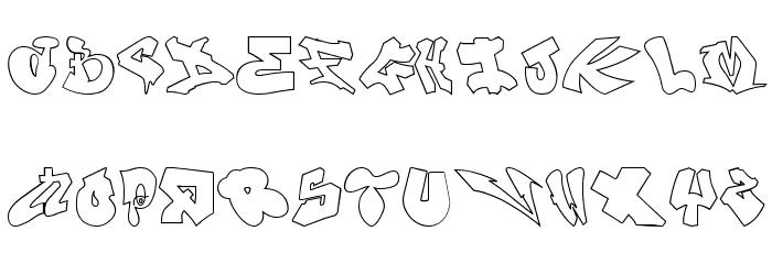 London Graffiti Alphabet Polices MAJUSCULES