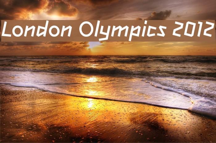 London Olympics 2012 Font examples