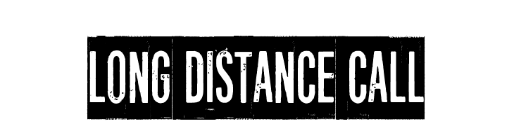 Long distance call  Free Fonts Download