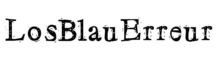 LosBlauErreur Schriftart