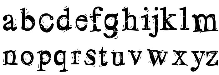 LosBlauErreur Schriftart Kleinbuchstaben