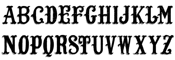 Lost Saloon Font UPPERCASE