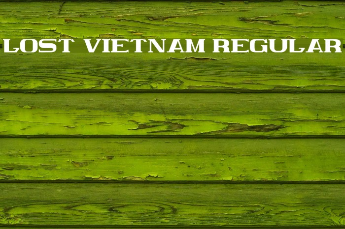 Lost Vietnam Regular Fonte examples