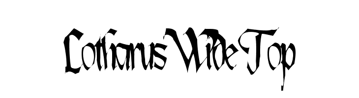 Lotharus Wide Top  Free Fonts Download