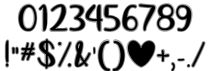 Love Like This Font OTHER CHARS