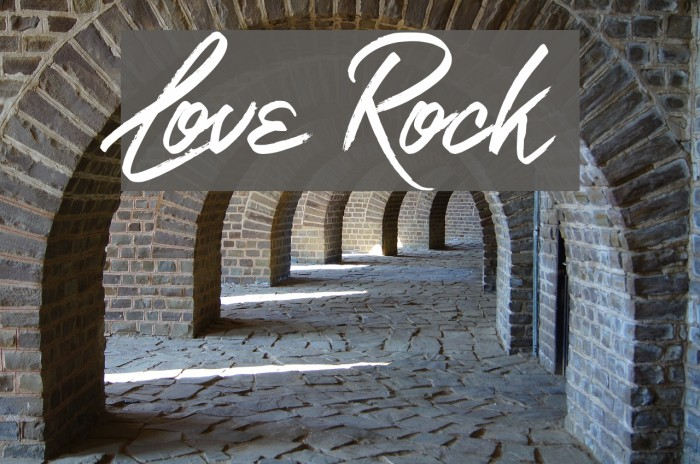 Love Rock Font examples