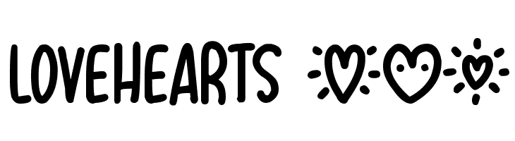 Lovehearts XYZ  Free Fonts Download
