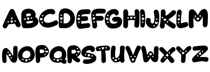 Lovelings Font UPPERCASE