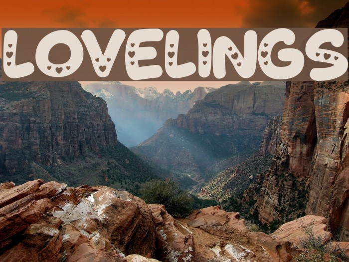 Lovelings Font examples