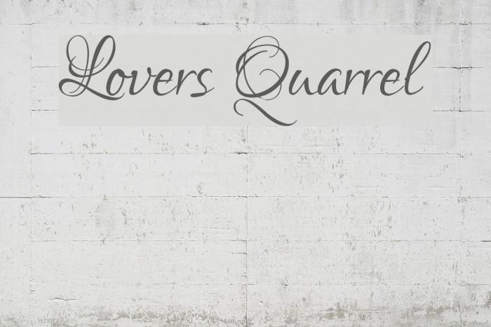 Lovers Quarrel Font examples