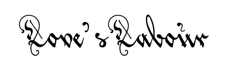 Love'sLabour  Скачать бесплатные шрифты