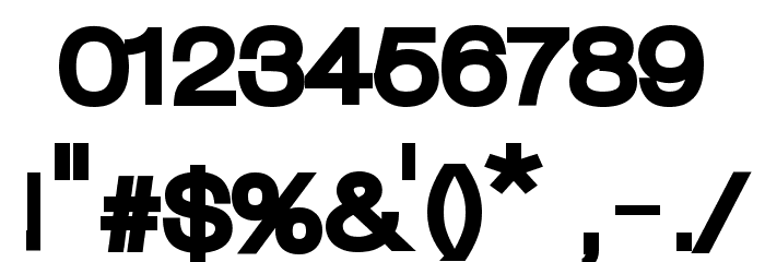 Lowvetica Ultra Bold Font OTHER CHARS