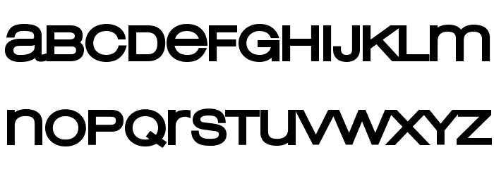 Lowvetica Ultra Bold Font LOWERCASE