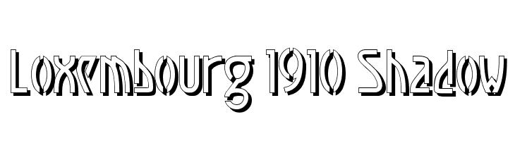 Loxembourg 1910 Shadow  フリーフォントのダウンロード