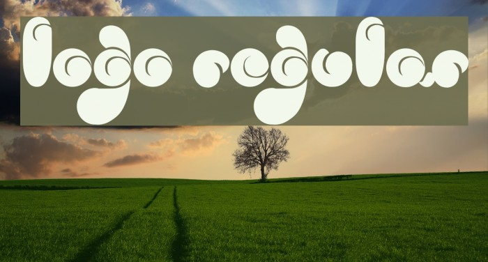 logo Regular Шрифта examples