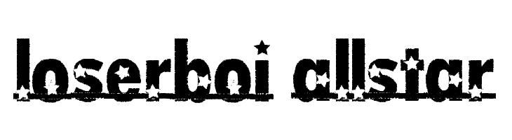 loserboi allstar  font caratteri gratis