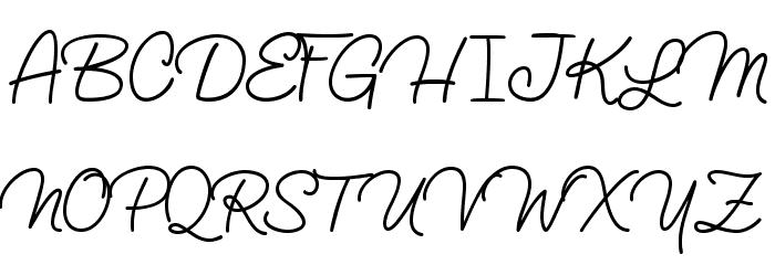 Lucemita-Regular फ़ॉन्ट अपरकेस