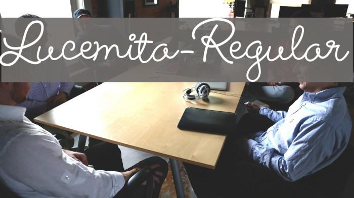 Lucemita-Regular फ़ॉन्ट examples