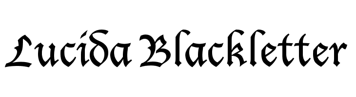 Lucida Blackletter  Free Fonts Download