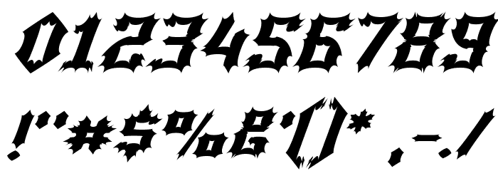 Luciferius Italic Font OTHER CHARS