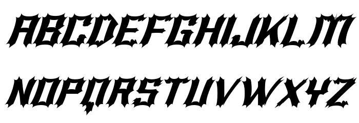 Luciferius Italic Font UPPERCASE