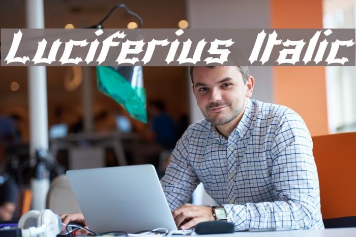 Luciferius Italic Font examples