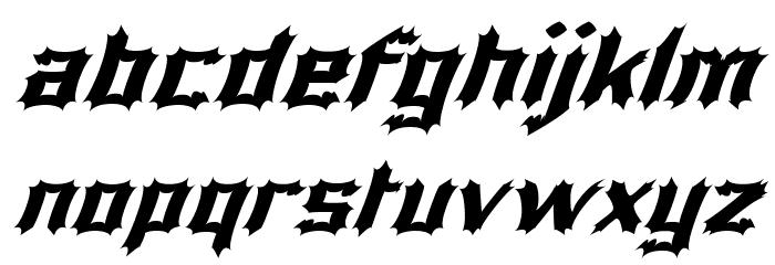 Luciferius Italic फ़ॉन्ट लोअरकेस