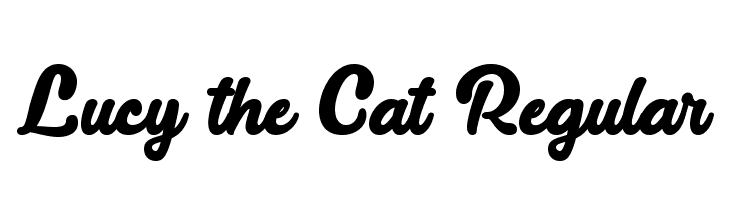 Lucy the Cat Regular Font - free fonts download