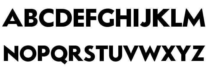LudlowTempoBold Font Litere mari