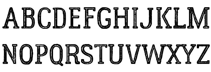 LumberjackInlineRough Font UPPERCASE