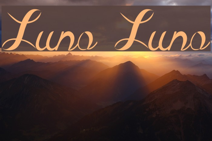 Luna Luna Fonte examples