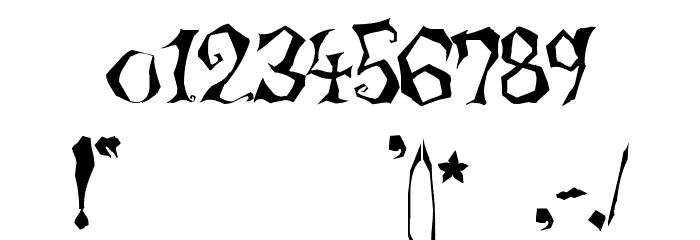 LunacyMore Шрифта ДРУГИЕ символов