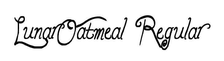 LunarOatmeal-Regular  Free Fonts Download