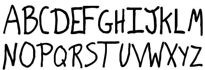 Lunatic Font UPPERCASE