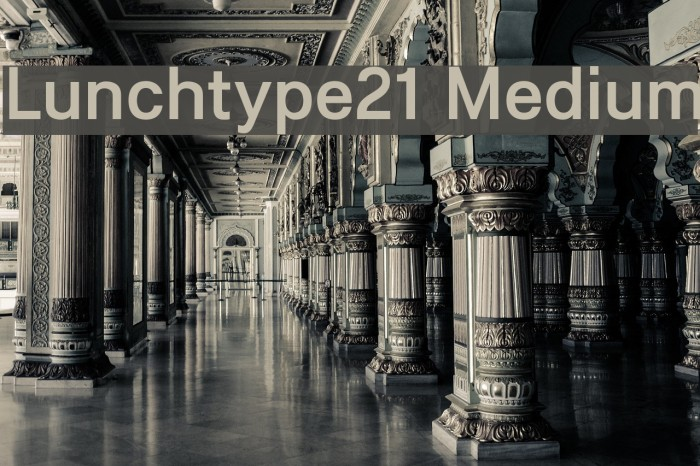 Lunchtype21 Medium Font examples