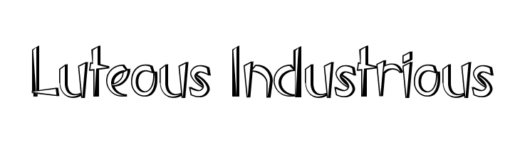 Luteous Industrious  Free Fonts Download