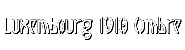 Luxembourg 1910 Ombre  baixar fontes gratis