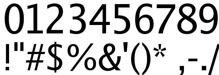 Luxi Sans Regular Font OTHER CHARS