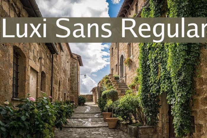 Luxi Sans Regular Font examples