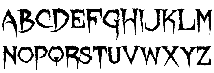 Lycanthrope Font UPPERCASE