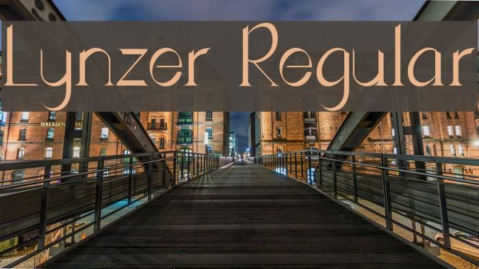 Lynzer Regular Schriftart examples