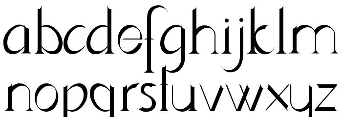 Lynzer Regular Schriftart Kleinbuchstaben
