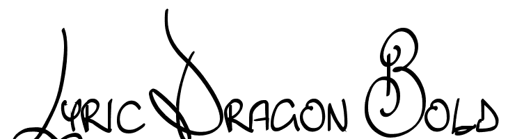 Lyric Dragon Bold  Fuentes Gratis Descargar
